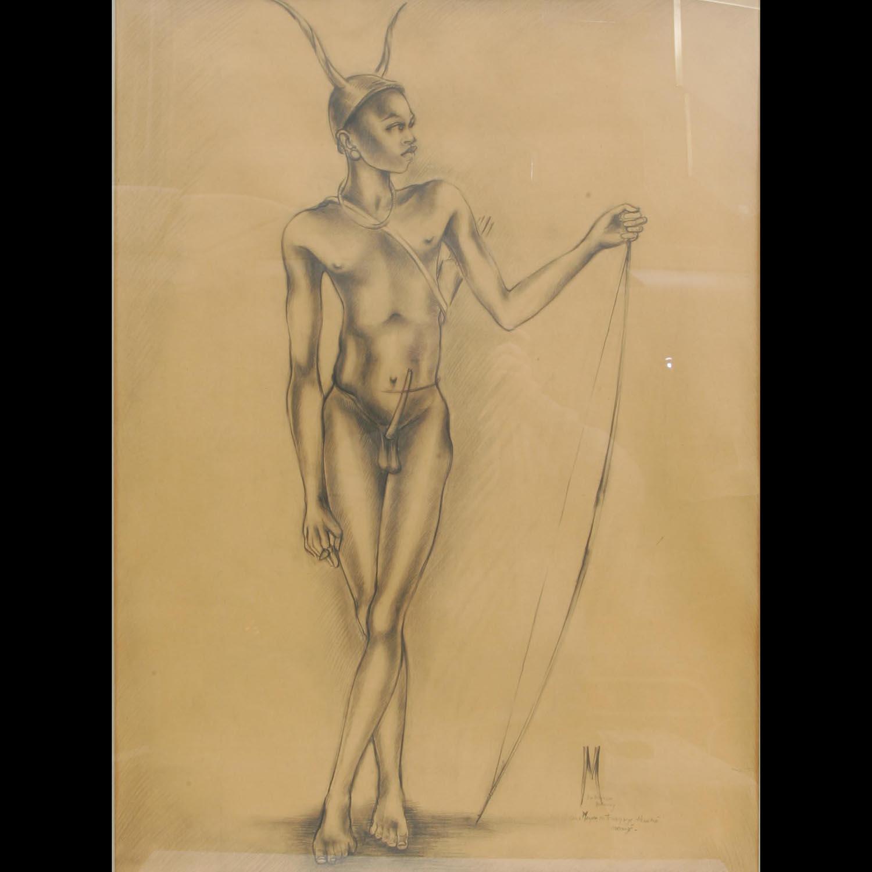 Pierre MAUZE  –  «Homme Somba»