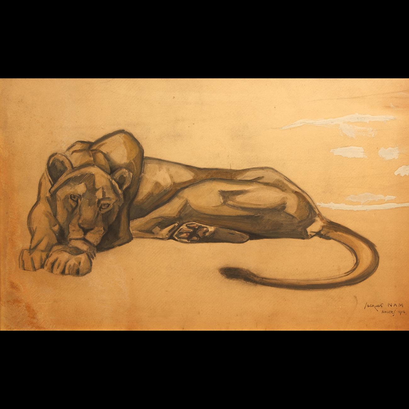 Jacques LEHMAN dit NAM «Lionne couchée»