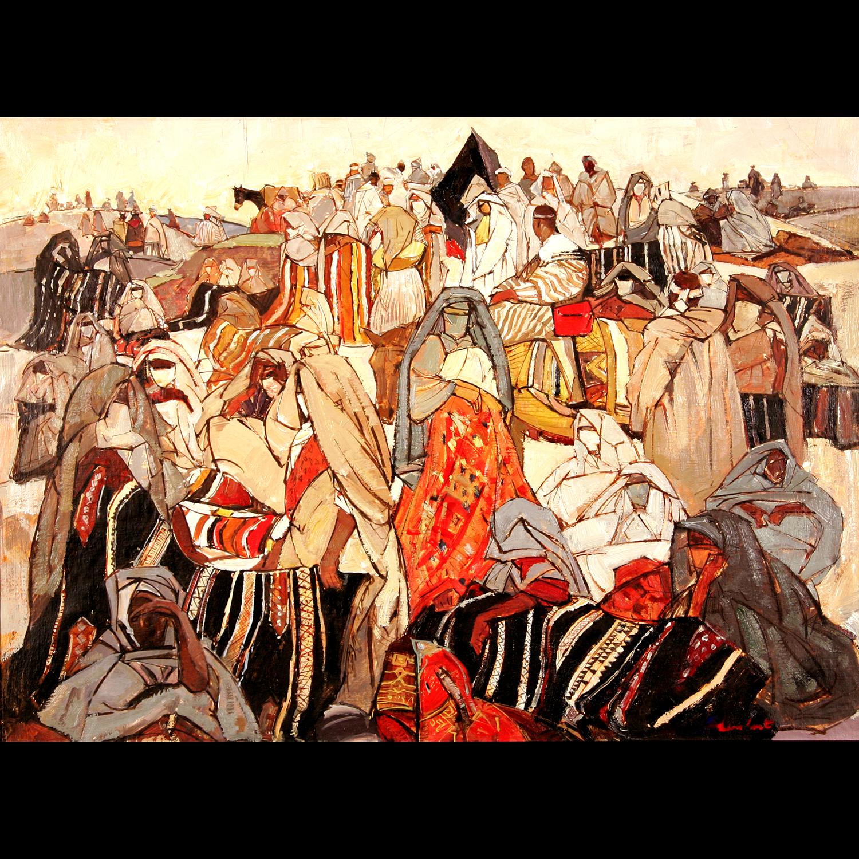 Léon LURET  –  Le Souk des tapis