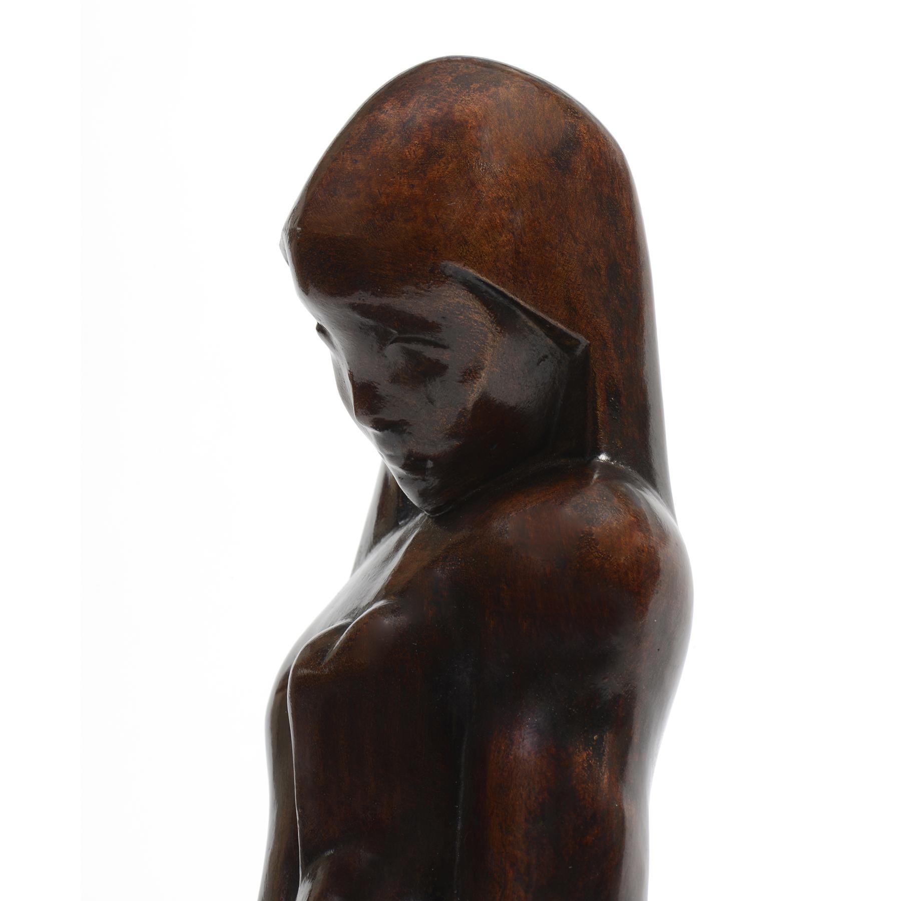 Joseph Csaky - Femme assise sur ses Genoux