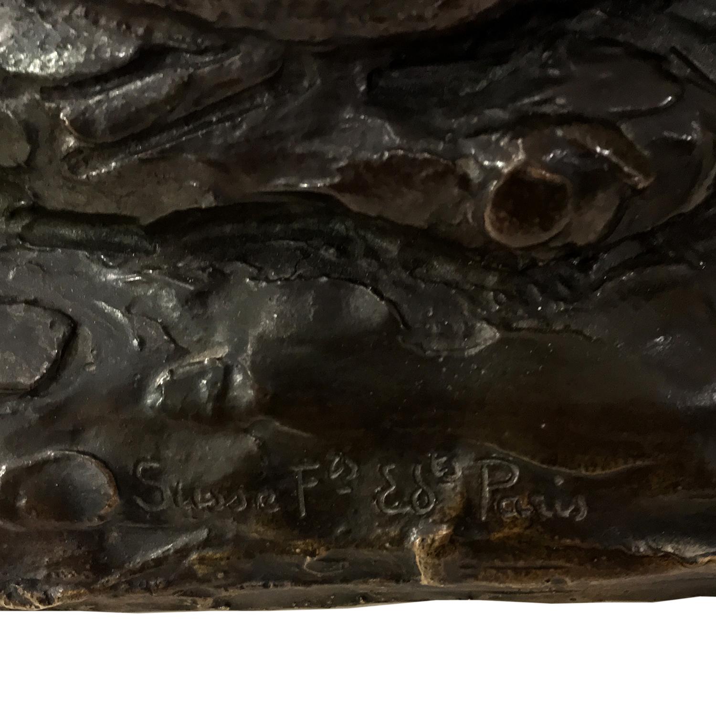 Roger Godchaux Sculpture bronze lionne couchee 4