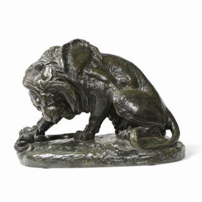 Antoine-Louis BARYE «Lion au Serpent»