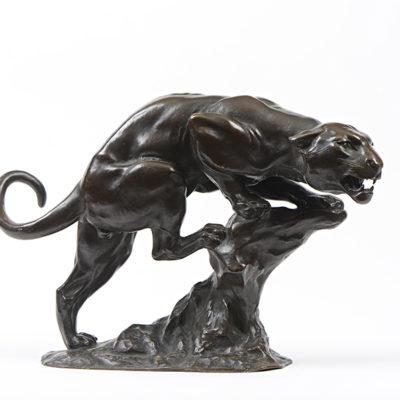 Georges GARDET  –  «Puma à l'affût»