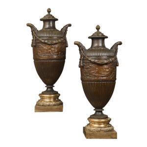 Alexandre CLERGET (1856-1931) – «Paire de grands vases»