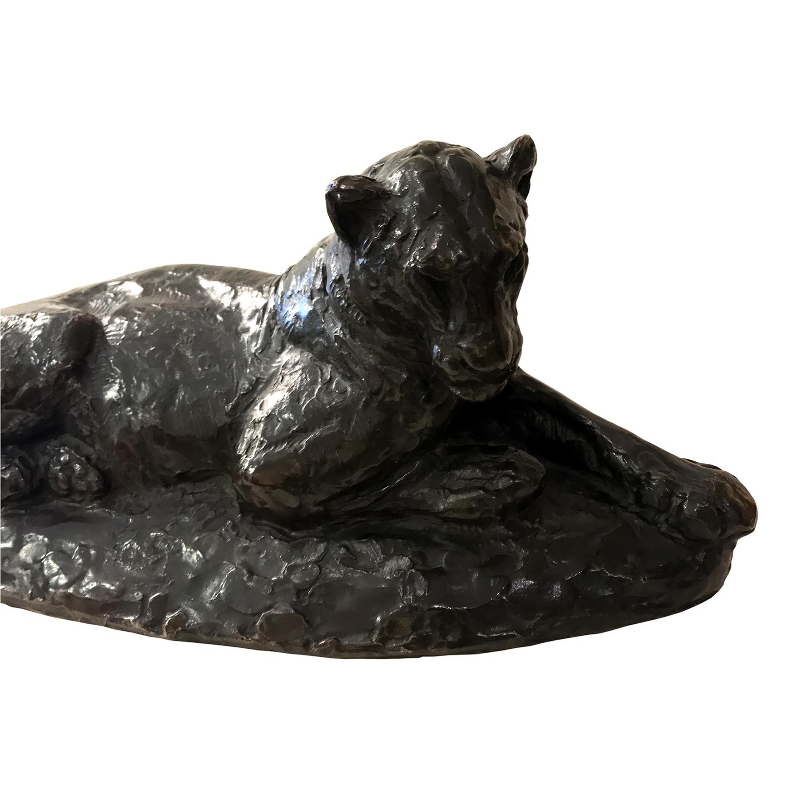 Roger Godchaux sculpture bronze lionne couchee 2