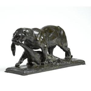 Auguste SEYSSES – «Panthère à la proie»