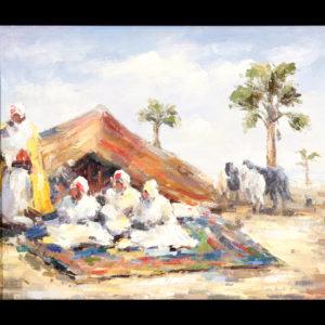 Léon LURET  –  «Le Bivouac»